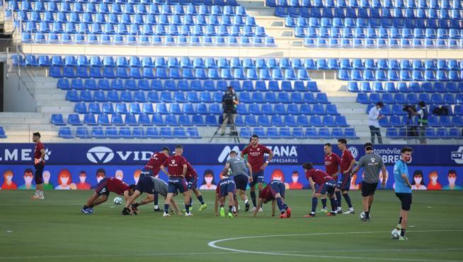 Partido de fútbol SD Huesca - Numancia.